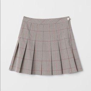 H&M pleated mini skirt